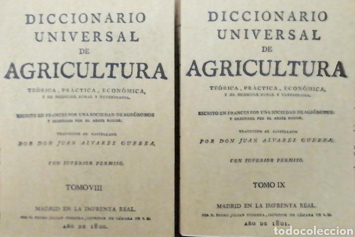 Libros: DICCIONARIO UNIVERSAL DE AGRICULTURA. 16 TOMOS. EDICIÓN FACSÍMIL - Foto 6 - 256027900