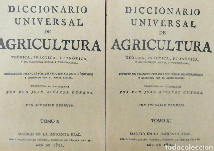 Libros: DICCIONARIO UNIVERSAL DE AGRICULTURA. 16 TOMOS. EDICIÓN FACSÍMIL - Foto 7 - 256027900