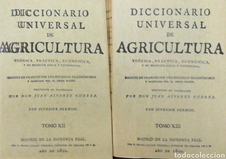 Libros: DICCIONARIO UNIVERSAL DE AGRICULTURA. 16 TOMOS. EDICIÓN FACSÍMIL - Foto 8 - 256027900