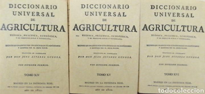 Libros: DICCIONARIO UNIVERSAL DE AGRICULTURA. 16 TOMOS. EDICIÓN FACSÍMIL - Foto 9 - 256027900