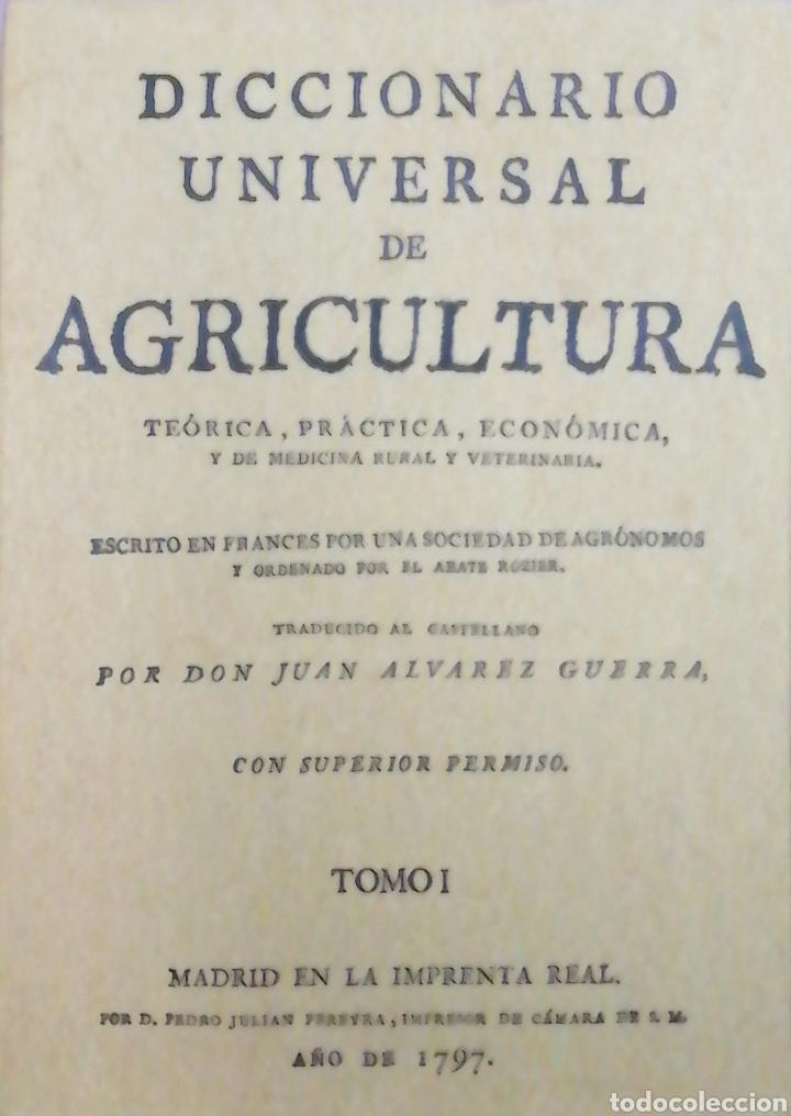 DICCIONARIO UNIVERSAL DE AGRICULTURA. 16 TOMOS. EDICIÓN FACSÍMIL (Libros Nuevos - Ciencias Manuales y Oficios - Ciencias Naturales)