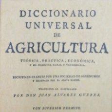 Libros: DICCIONARIO UNIVERSAL DE AGRICULTURA. 16 TOMOS. EDICIÓN FACSÍMIL. Lote 256027900