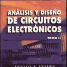 Libros: ANÁLISIS Y DISEÑO DE CIRCUITOS ELECTRÓNICOS VOL. 2. Lote 261600615