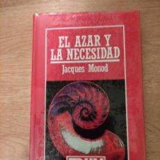 Libros: B. DIVULGACIÓN CIENTÍFICA MUY INTERESANTE *PRECINTADO* N° 20 EL AZAR Y LA NECESIDAD JACQUES MONOD. Lote 263088615