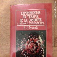 Libros: B. DIVULGACIÓN CIENTÍFICA MUY INTERESANTE *PRECINTADO* N° 45 EXPERIMENTOS EN TERAPIA DE LA CONDUCTA. Lote 263093265
