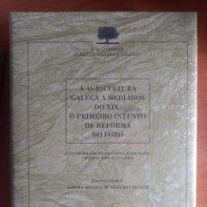 Libros: A AGRICULTURA GALEGA A MEDIADOS DO XIX. O PRIMEIRO INTENTO DE REFORMA DO FORO. Lote 278524283