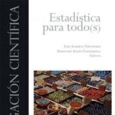 Libros: ESTADÍSTICA PARA TODO(S). Lote 279363003