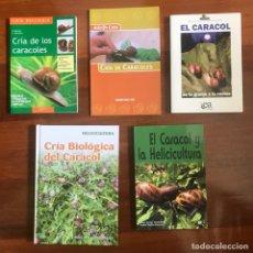 Libros: 5 LIBROS DE LA CRÍA DEL CARACOL. Lote 287915948