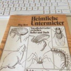 Libros: HEIMLICHE UNTERMIETER JÖRG HESS. Lote 288024018