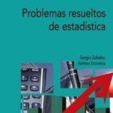 Libros: PROBLEMAS RESUELTOS DE ESTADÍSTICA. Lote 289197038
