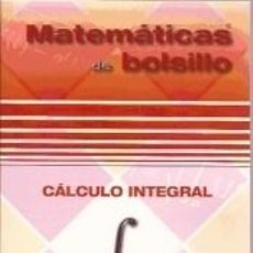 Libros: CÁLCULO INTEGRAL. Lote 295606888