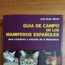 Libros: GUÍA DE CAMPO DE LOS MAMÍFEROS ESPAÑOLES. Lote 296890153
