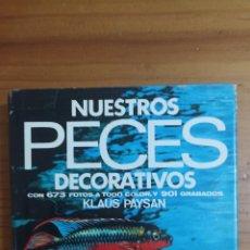 Libros: NUESTROS PECES DECORATIVOS. Lote 296896133