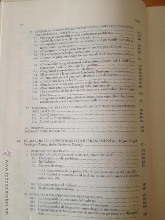 Libros: PERSONAS CON DISCAPACIDAD. PERSPECTIVAS PSICOPEDAGOGICAS Y REHABILITADORAS. MIGUEL A. VERDUGO ALONSO - Foto 14 - 47999975