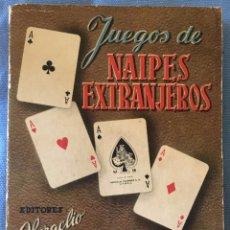 Libros: JUEGOS DE NAIPES EXTRANJEROS, HERACLIO FOURNIER, VITORIA 1950. Lote 83868752