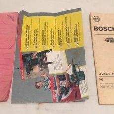 Libros: MANUALES DE INSTRUCCIONES ENTRETENIMIENTO TALADRO BOSCH PSB 400. Lote 194881340