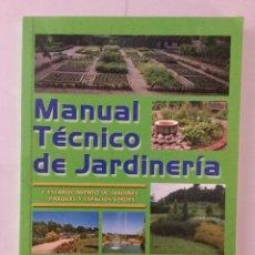 Libros: MANUAL TÉCNICO DE JARDINERÍA. TOMO I. MUNDI PRENSA.. Lote 86988504