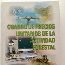Libros: CUADRO DE PRECIOS UNITARIOS DE LA ACTIVIDAD FORESTAL. ETSIM. CON CD.. Lote 89393772