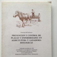 Livros: PREVENCIÓN Y CONTROL DE PLAGAS Y ENFERMEDADES EN AGRICULTURA Y GANADERÍA. NUEVO. Lote 91945835