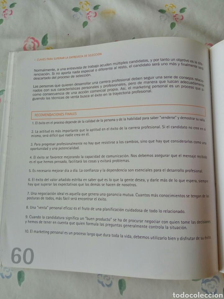 Libros: Claves para superar la entrevista de selección,UC. 60 páginas. - Foto 5 - 92109788