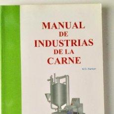 Manual de industrias de la carne.