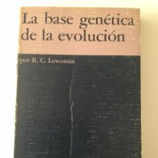 Libros: LA BASE GENÉTICA DE LA EVOLUCIÓN.. Lote 95093279