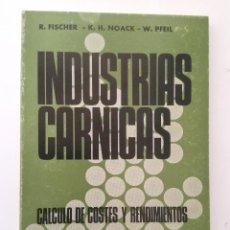 Libros: INDUSTRIAS CÁRNICAS.. Lote 95145143