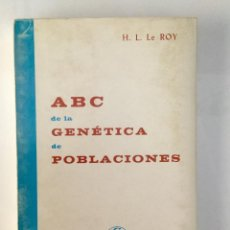 Libros: ABC DE LA GENÉTICA DE POBLACIONES.. Lote 95189127