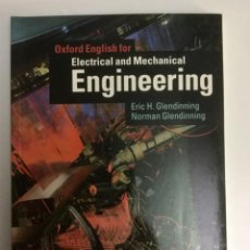 Libros: INGLÉS. ELÉCTRICAL AND MECHANICAL ENGINEERING. OXFORD UNIVERSITY PRESS.. Lote 100532331