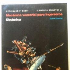 Libros: MECÁNICA VECTORIAL PARA INGENIEROS. MCGRAWHILL.. Lote 100635643