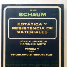 Libros: ESTÁTICA Y RESISTENCIA DE MATERIALES. MCGRAWHILL.. Lote 100636115