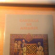 Libros: CARTILLA DE AJEDREZ. Lote 104614708
