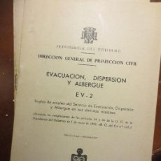 Libros: ANTIGUO LIBRO EVACUACION DISPERSION ALBERGE MADRID 1967 CON DESPLEGABLES. Lote 106673003