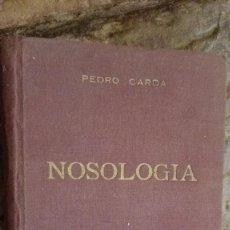 Libros: NOSOLOGIA-PEDRO CARDA APARICI-MONOGRAFIAS DE PATOLOGIA COMPARADA-1950-BIBLIOTECA DE BIOLOGIA . Lote 112322567