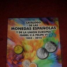 Libros: CATÁLOGO DE MONEDAS ESPAÑOLAS AÑO 2016. Lote 112775358