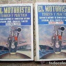 Libros: TECNICO PROFESIONAL EL MOTORISTA TEÓRICO Y PRÁCTICO TRATADO DE MOTORES 2 TOMOS 1958 VALLE COLANTES. Lote 119192759