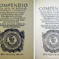 Libros: ZAMORANO, RODRIGO. COMPENDIO DE LA ARTE DE NAVEGAR. REP. FACSÍMIL DE LA DE SEVILLA, 1581. 2011.. Lote 125720147