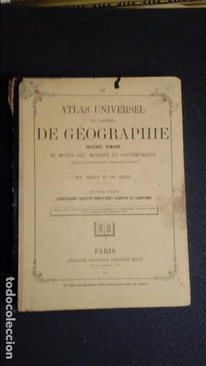 ATLAS DE DRIOUX Y LEROY. GEOGRAFÍA MUNDIAL. FINALES DEL XIX. (Libros Nuevos - Ciencias, Manuales y Oficios - Otros)