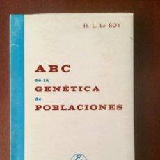 Livres: A B C DE LA GENÉTICA DE POBLACIONES. ACRIBIA.. Lote 135817222