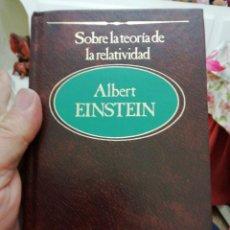 Libros: SOBRE LA TEORÍA DE LA RELATIVIDAD, ALBERT EINSTEIN. Lote 136420698
