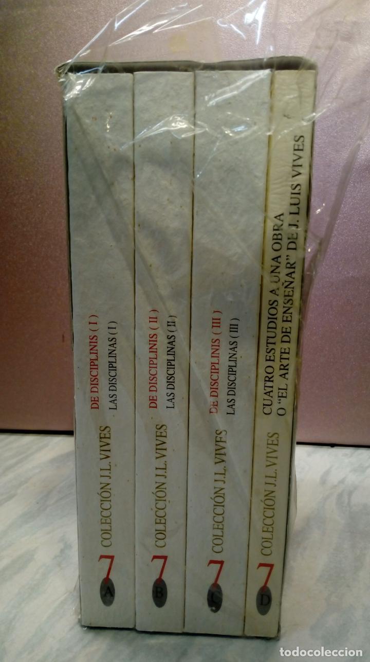 Libros: LAS DISCIPLINAS - IOANNES LODOVICUS VIVES VALENTINUS . VOL 7 . 4 TOMOS , NUEVOS SIN USO , VALENCIA - Foto 4 - 144938634