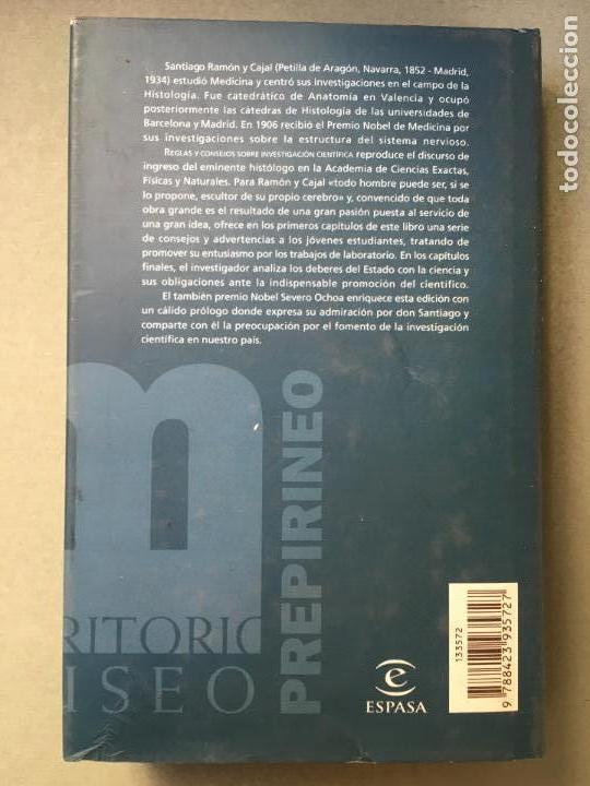 Libros: REGLAS Y CONSEJOS SOBRE INVESTIGACIÓN CIENTIFÍCA, DE SANTIAGO RAMÓN Y CAJAL - Foto 3 - 145965910