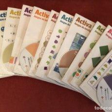 Livros: COLECCIÓN SIN USAR DE 12 LIBROS +CDS ACTIVA TU MENTE , JUEGOS INTELIGENCIA , ED PRIMERA PLANA, 2007. Lote 152793532