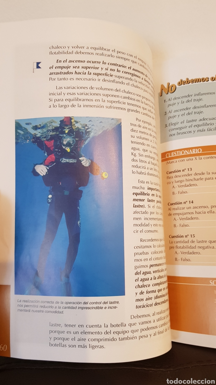 Libros: MANUAL CMAS 1 STAR DIVER 4° EDICION MANUAL DEL ALUMNO - Foto 5 - 152911797