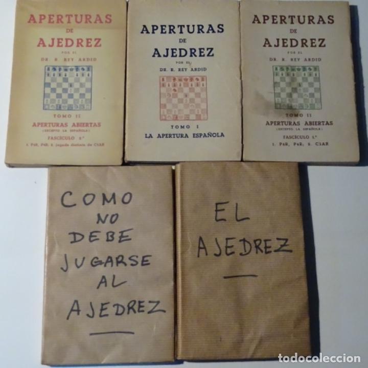 5 LIBROOS DE AJEDREZ.REY ARDID.APERTURAS,COMO JUGAR,ETC.1945 (Libros Nuevos - Ciencias, Manuales y Oficios - Otros)