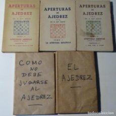 Libros: 5 LIBROOS DE AJEDREZ.REY ARDID.APERTURAS,COMO JUGAR,ETC.1945. Lote 153605194
