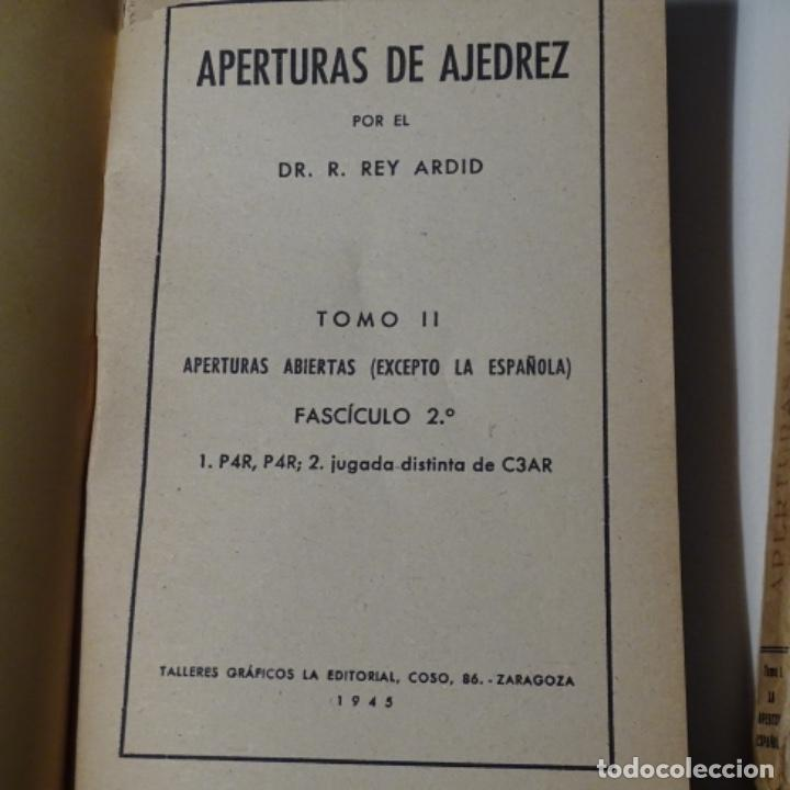Libros: 5 libroos de ajedrez.rey ardid.aperturas,como jugar,etc.1945 - Foto 2 - 153605194