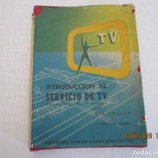 Libros: INTRODUCCIÓN AL SERVICIO DE TV H. L. SWALUW Y J.VAN DER WOERD 1967. Lote 168733316