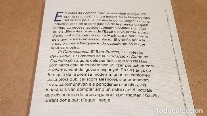 Libros: ELS DIARIS DE FOMENT / PREMSA INDUSTRIAL AL SEGLE XX / XAVIER MARTÍ I YLLA / ED: BASE. / COMO NUEVO. - Foto 3 - 174014592