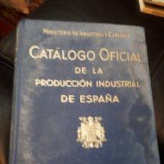 Libros: CATALOGO OFICIAL DE LA PRODUCCION DE ESPAÑA TOMO I. Lote 177325638